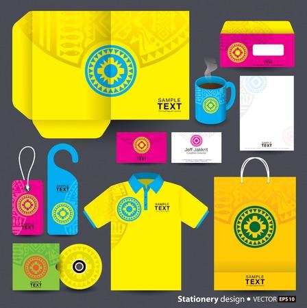 shirt hanger: Stationery template design  Illustration