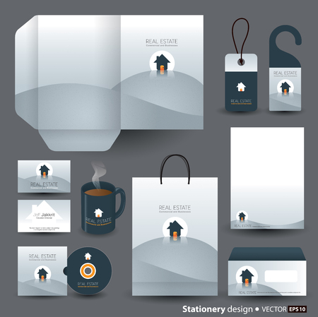 shirts on hangers: Stationery template design  Illustration