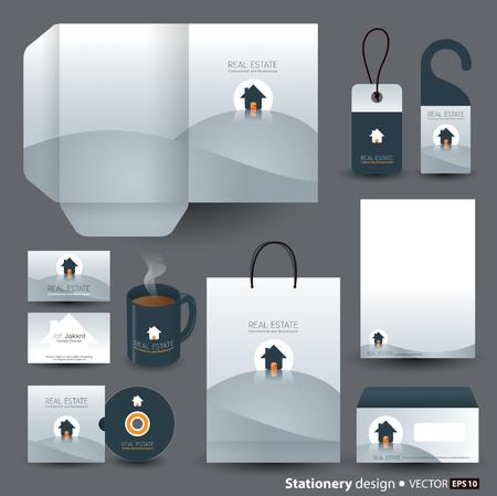 door hanger: Stationery template design  Illustration