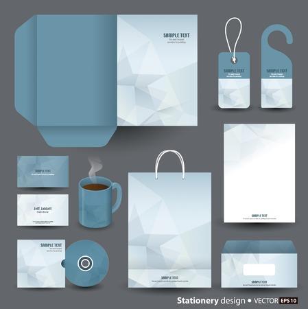 folder: Stationery template design  Illustration