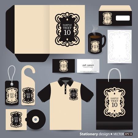 envelope: Stationery template design  Illustration