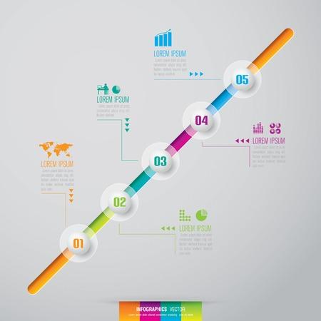 Infographics vector design template  Vector