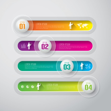 number button: Infographics vector design template