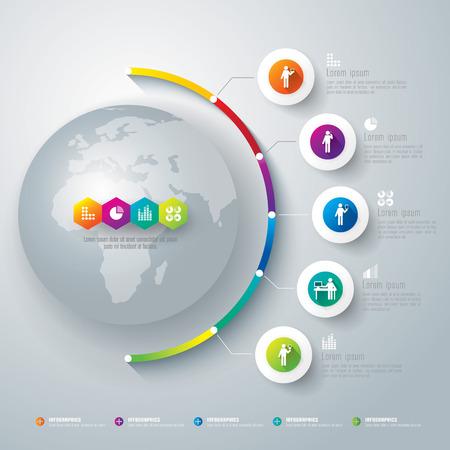 インフォ グラフィック ベクトル デザイン テンプレート