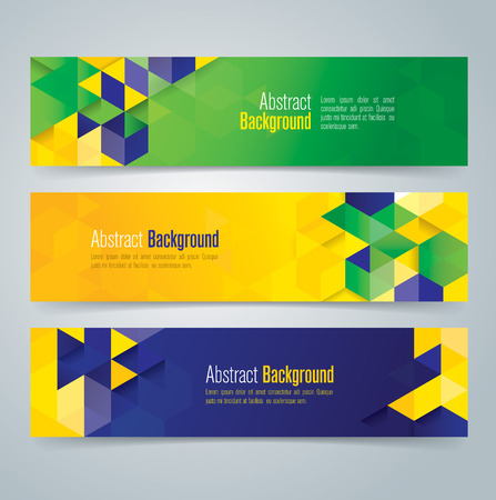 Sammlung Vektor-Banner-Design Illustration