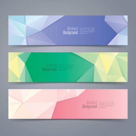 quartz crystal: Collection banner design vector