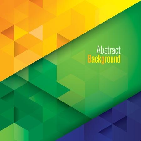 Geometrie Brazilië kleur vector Stock Illustratie
