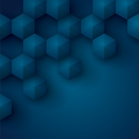 Blue geometry vector background  Vector