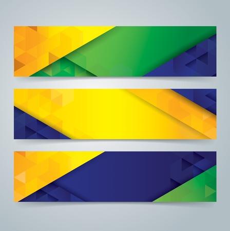 Collectie banner ontwerp Stock Illustratie