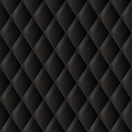 black leather: Black upholstery vector background