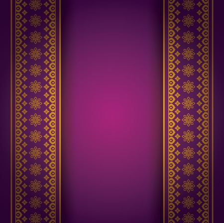 purple stars: Asian Art Background