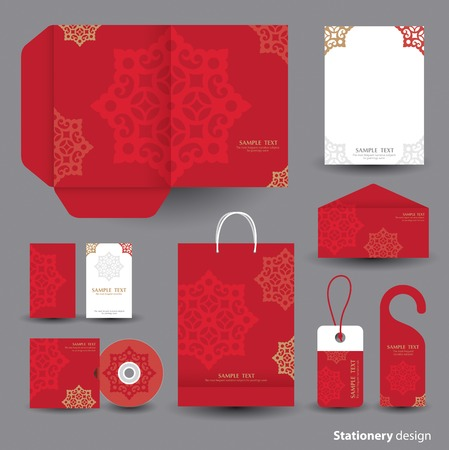 Stationery template design  Illustration