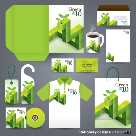 Stationery template design  Vector