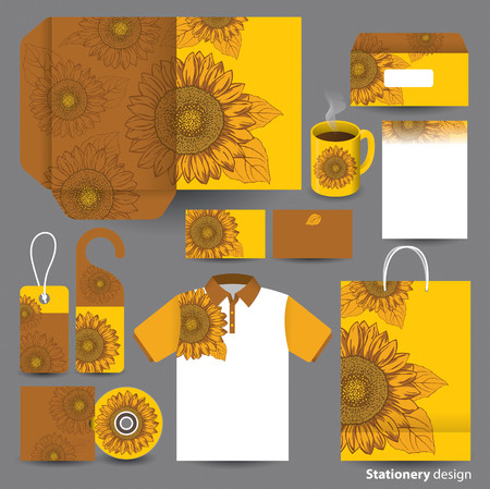 cd cover: Stationery template design  Illustration