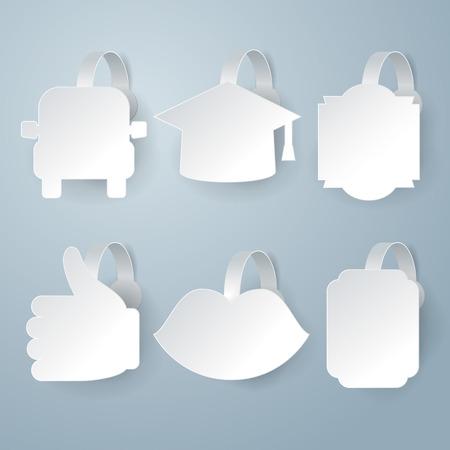 wobbler: White wobbler set on gray background