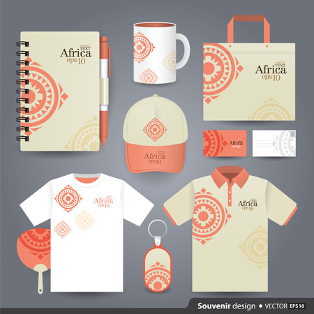 african art: Gift set template of Corporate identity design