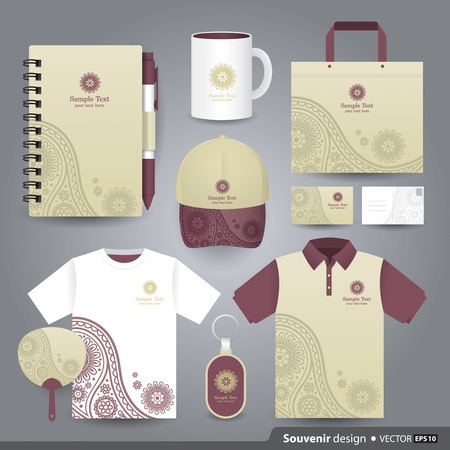 polo t shirt: Gift set template of Corporate identity design