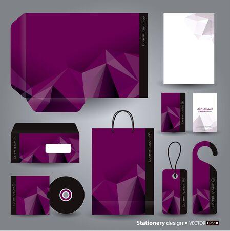 paper bag: Stationery template design  Illustration