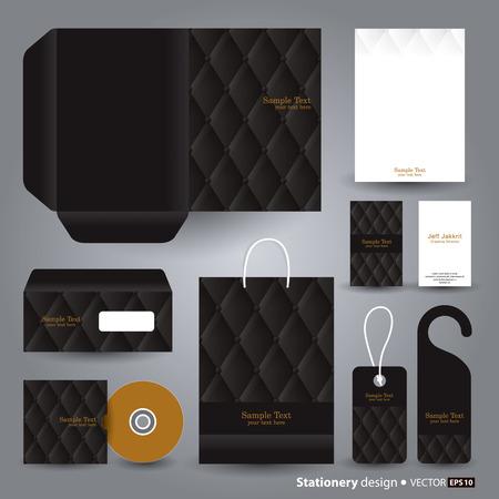 cd label: Stationery template design  Illustration