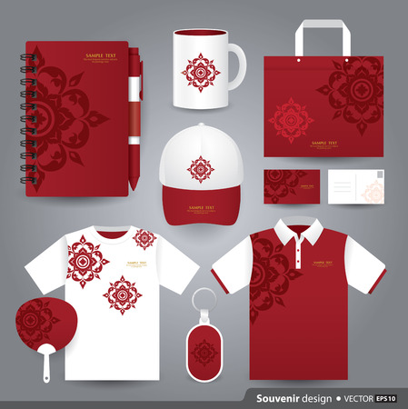 Thai style: Gift set template, Corporate identity design