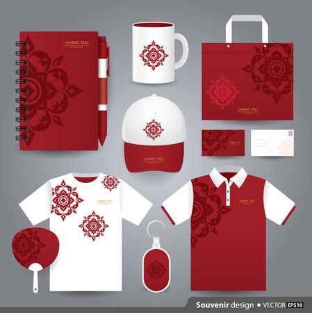 fabric art: Gift set template, Corporate identity design