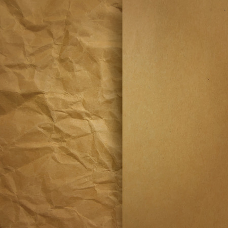 recycled paper: Brown paper background. Illustration
