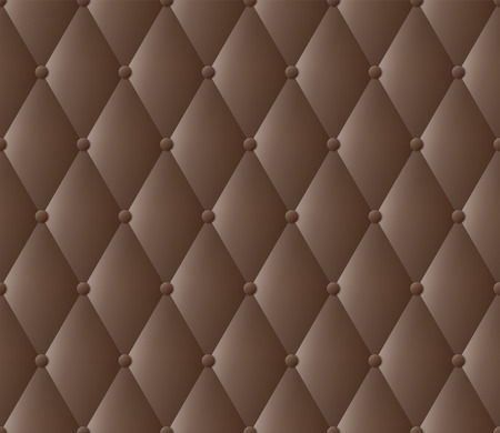 tufted: Dark brown upholstery abstract background.