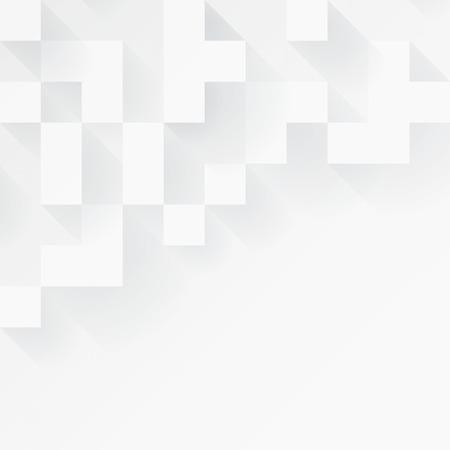 白の幾何学的な背景。