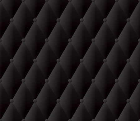tufted: Black upholstery abstract background. Illustration