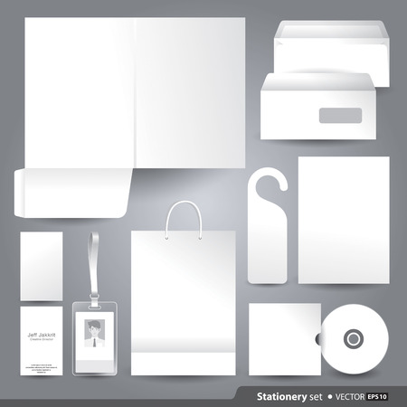 Vector templates set of corporate identity for your design. Illustration