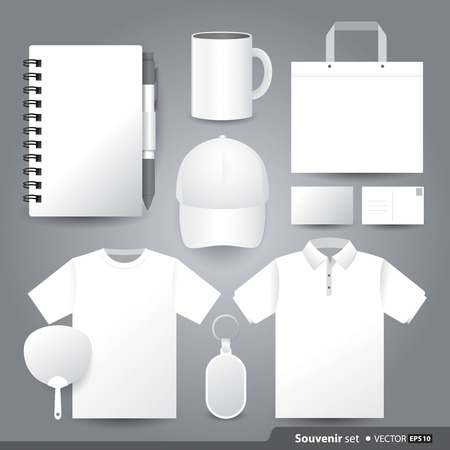 coffee cup: Vector templates set of Souvenir for your design.