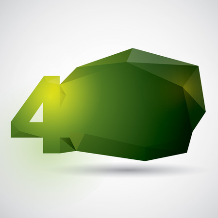 number 4: Polygonal number design. Number 4.