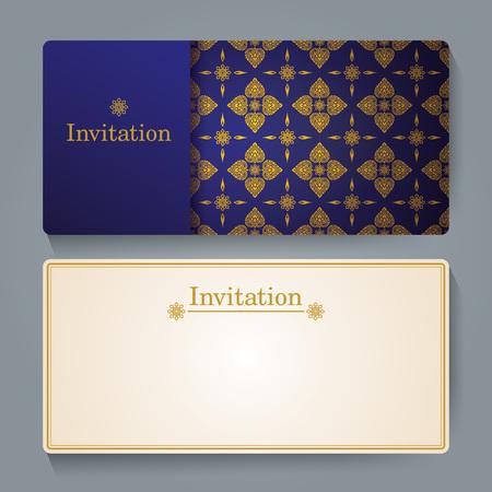 conception de carte d'invitation, Thai art arrière-plan.