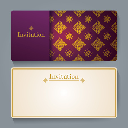 thai: Invitation card design, Thai art background.