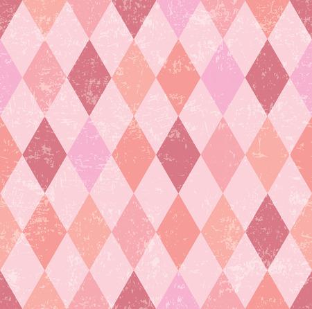 diamond texture: Pink vintage background vector.