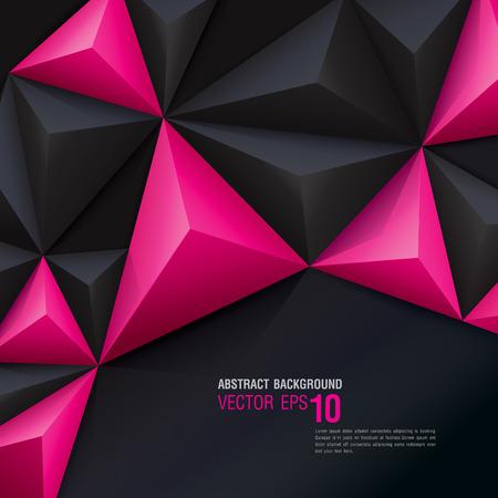 ピンクと黒はベクトル幾何学的な背景です。