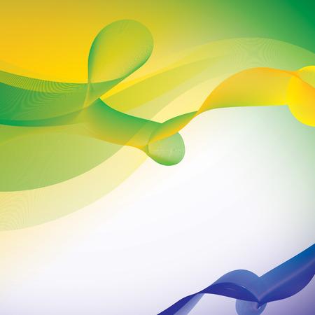 Vector background in Brazil flag color concept. Illustration