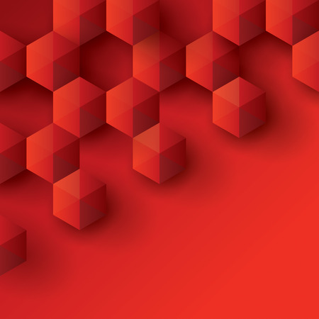 simple geometry: Red geometry background. Illustration