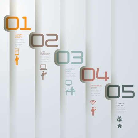 Abstract 3D digital illustration Infographics. Illustration