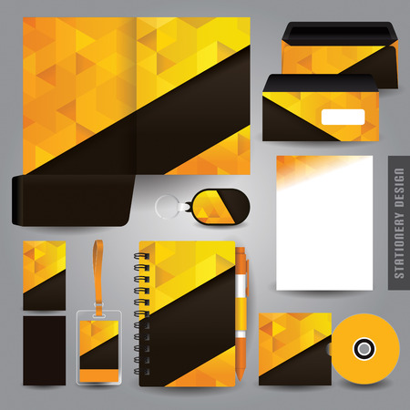 name tag: Stationery set design  Corporate identity design. Illustration