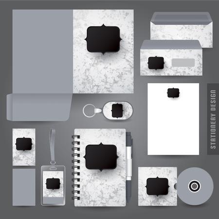 stationery set: Stationery set design  Corporate identity design. Illustration