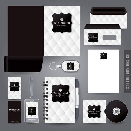 vintage envelope: Stationery set design  Corporate identity design. Illustration