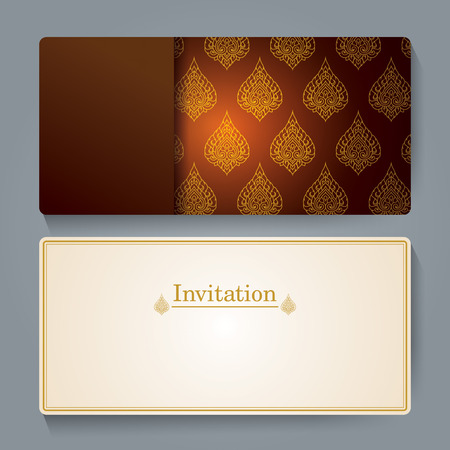 invitation card: Invitation card design, Thai art background.