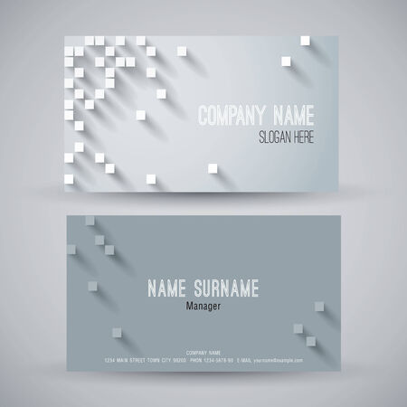 company name: Business card abstract background. Vector illustration. Illustration