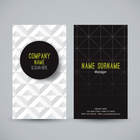 visual presentations: Business card abstract background. Vector illustration. Illustration