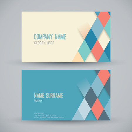 diamond texture: Business card abstract background. Vector illustration. Illustration