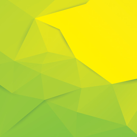 green background: Green and yellow vector geometric background.