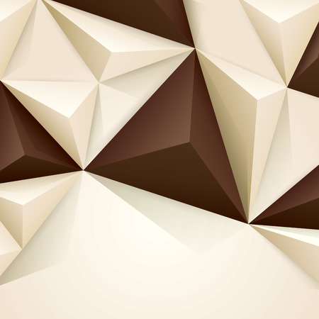 white chocolate: Brown and white vector geometric background.