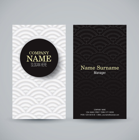 patterns japan: Business card template. Name card abstract background.