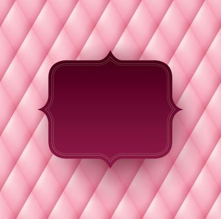 diamante: Marco de la vendimia en el fondo de color rosa.